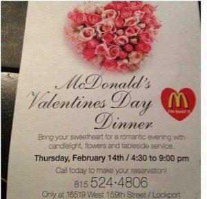Mcdonalds Valentine