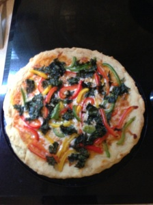 Homemade Pizza with Kale